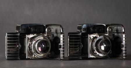 Two Kodak Bantam Special Camera Versions (Supermatic Left, Compur Right)