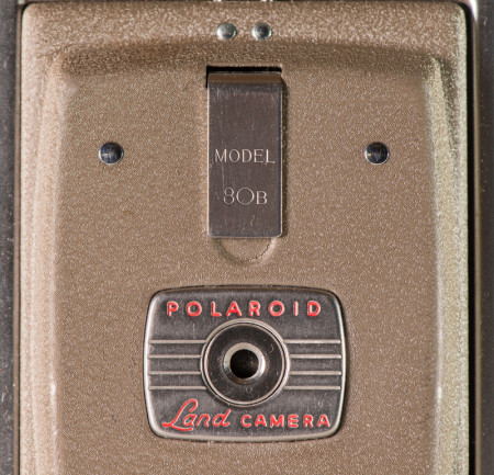 Polaroid Model 80B Camera Front Cover Details